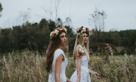 Two women model florals by Rebel Girl Floral