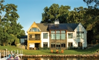 A lakefront home in Wayzata built by Hendel Homes