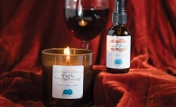 aromatically wine-inspired body sprays and candles