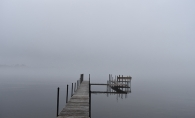 Foggy Dock on Crystal Bay
