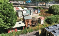 outdoor miniature train display