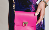 A pink SusiBash handbag created by local designer Sussan Mahjouri