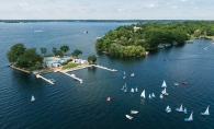 Members of the Lake Minnetonka Sailing School on the water.