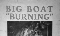 An advertisement for the Big Boat Burning, when the ship Excelsior was lit on fire on Lake Minnetonka.