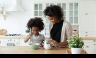 cooking in kitchen with kids