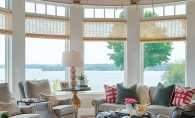 The interior of a Lake Minnetonka home designed for both family and event hosting.