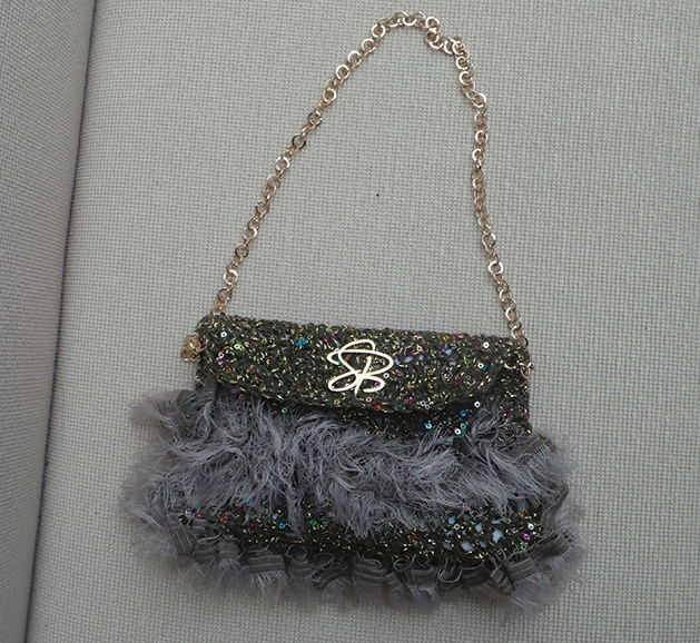 Crochet/knit bag and scarf