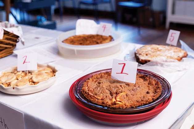 Apple pie contest entries at Excelsior Apple Day 2019
