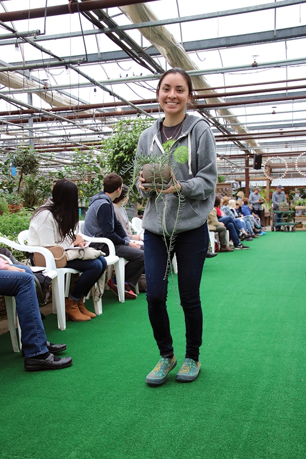 Jocelyn Espino at Tonkadale Greenhouse's houseplant runway show