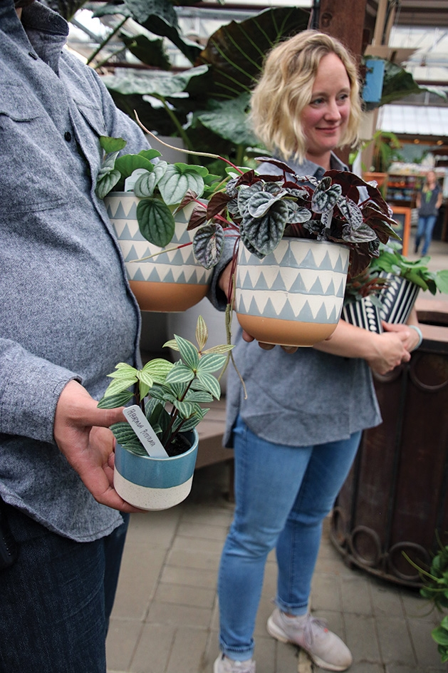 Megan Nichols at Tonkadale Greenhouse's Houseplant Runway Show