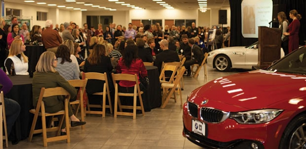 The third floor of BMW of Minnetonka housed the party alongside a few snazzy rides.