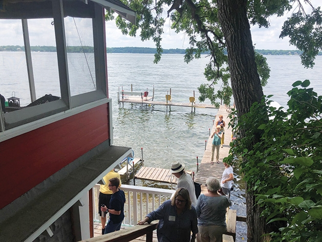 "A dock on the ""Boathouses of Lake Minnetonka"" tour."