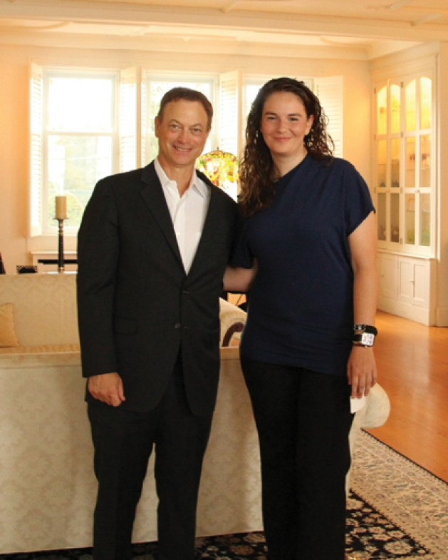 Gary Sinise with Marie Havrilla