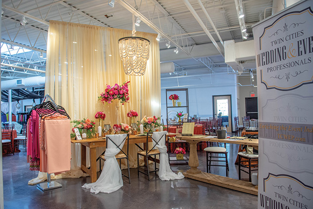 A vignette at Festivities Event Rental & Decor showroom.