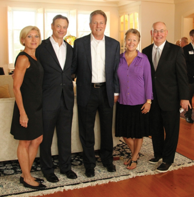 Judy Otter, Gary Sinise, Jeff Fetters, Teri and Bill Popp