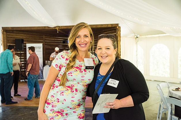 Heidi Akpaette and Mandy Rotella at the Twin Cities Wedding & Event Professionals meeting at Minnetonka Orchards