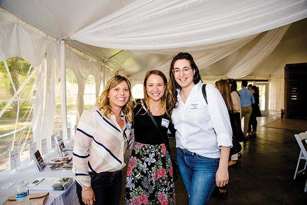 Rachel Jemtrud, Kailey Mahn and Stephanie Luger at the Twin Cities Wedding & Event Professionals meeting at Minnetonka Orchards.