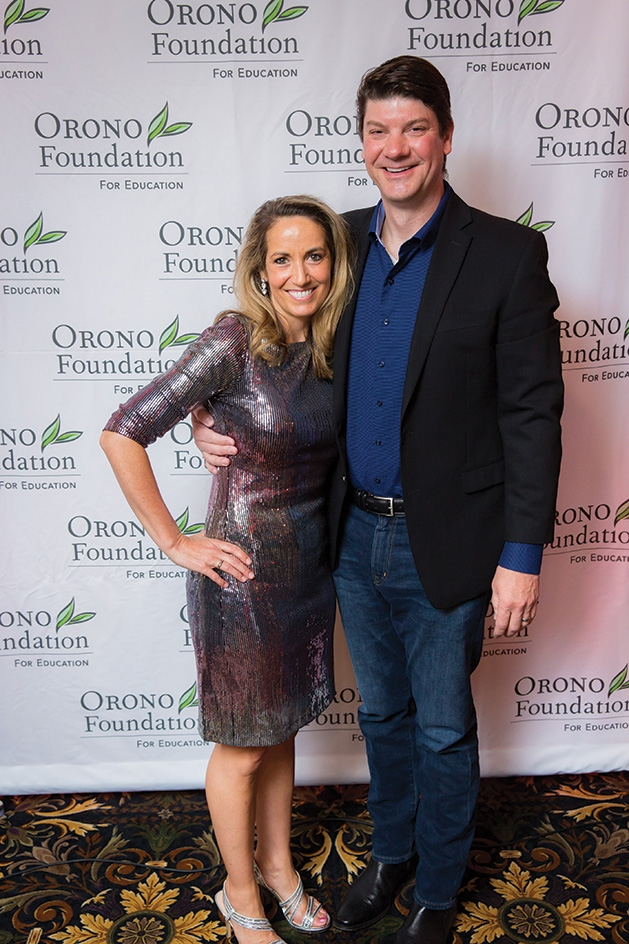 Sheri and Todd Pottebaum at the Orono Foundation's 2019 Red and Blue Bash