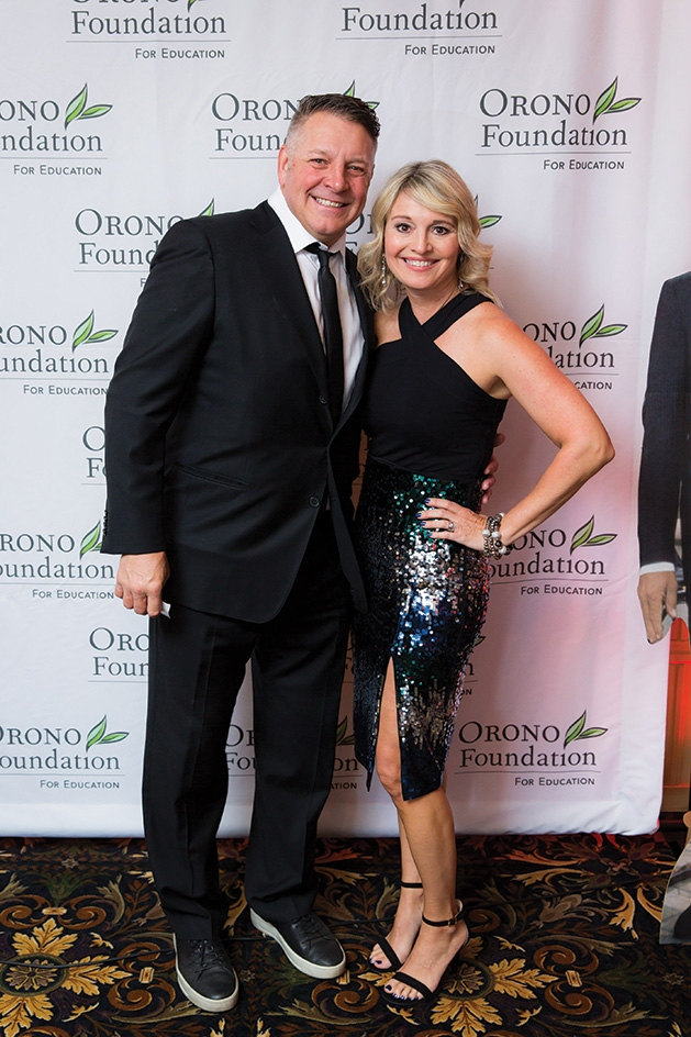 Todd and Shelley Sether at the Orono Foundation's 2019 Red and Blue Bash