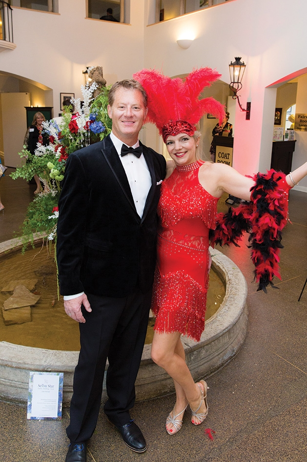Steve and Lori Melander pose at the Orono Foundation's Red and Blue Bash 2019
