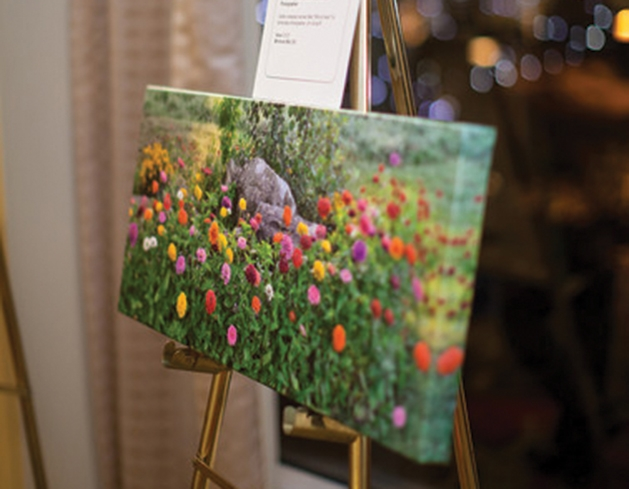 A piece of artwork featured in the silent auction