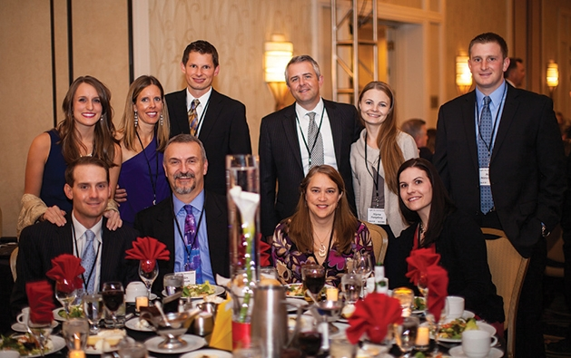Back row, left to right: Greta Peterson, Joy Scheil, Brent Scheil, Kirk Pumphrey, Alyona Pumphrey, Max Mittelstaedt; Front row, left to right: Paul Siedow, Allen Peterson, Mary Peterson, Megan Mittelstaedt