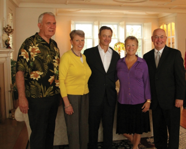 Warren Herreid, Jeannine Rivet, Gary Sinise, Teri and Bill Popp