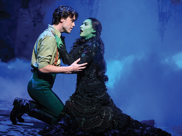 "Minnetonka High School alum Ryan McCartan performs as Fiyero with Jessica Vosk in ""Wicked"" on Broadway"