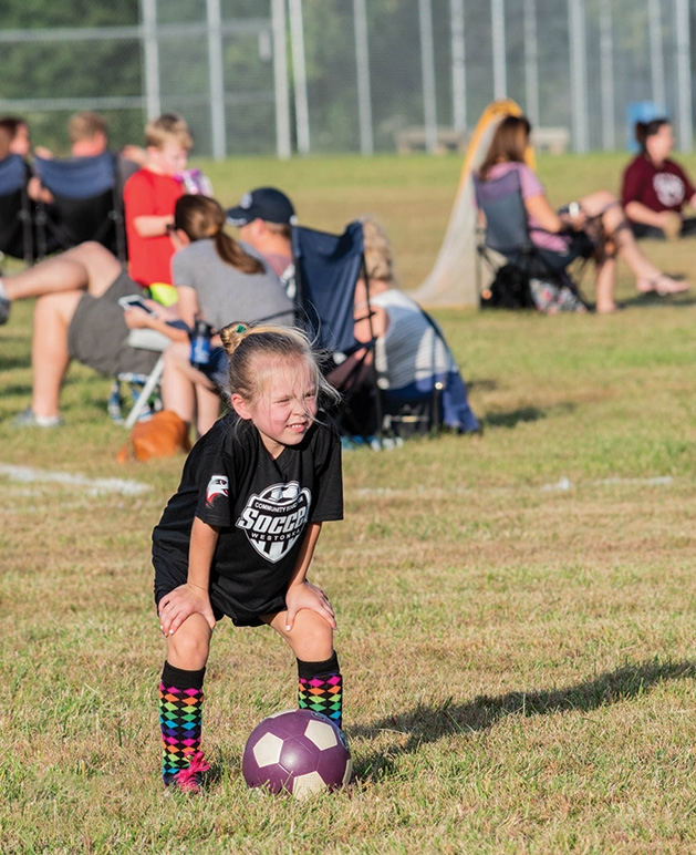 Annabelle plays soccer at the ballfields near Shirley Hills Primary School.