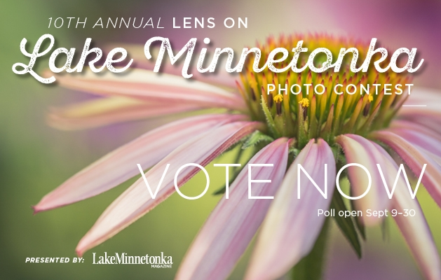 A graphic announcing voting for the 2020 Lens on Lake Minnetonka photo contest.