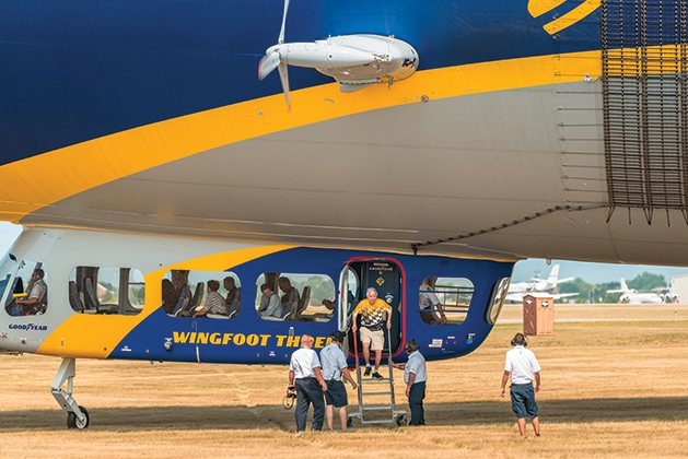 Goodyear Blimp celebrates Youngstedts' 50 years in business