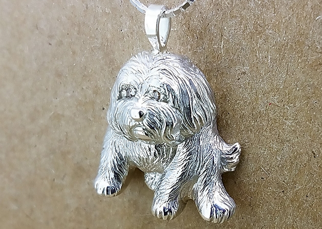 A dog pendant from Wayzata Jewelers