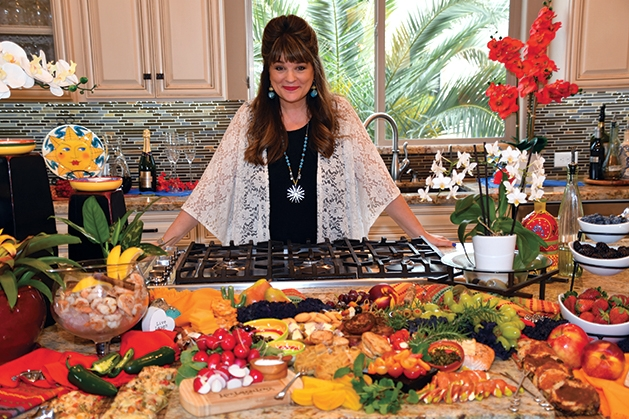 Jules Meyer cooks a dish in her kitchen.
