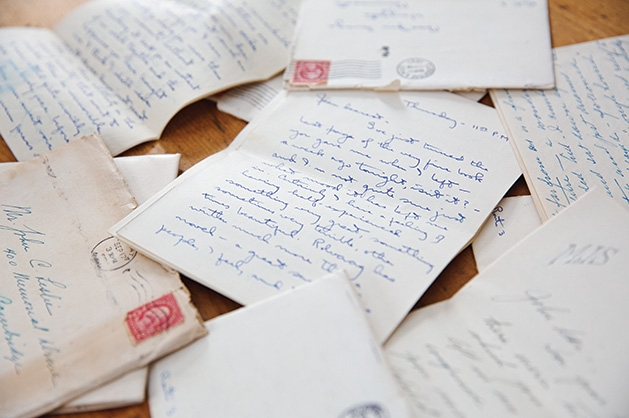 Love letters written by John Leslie and Jean Savage.
