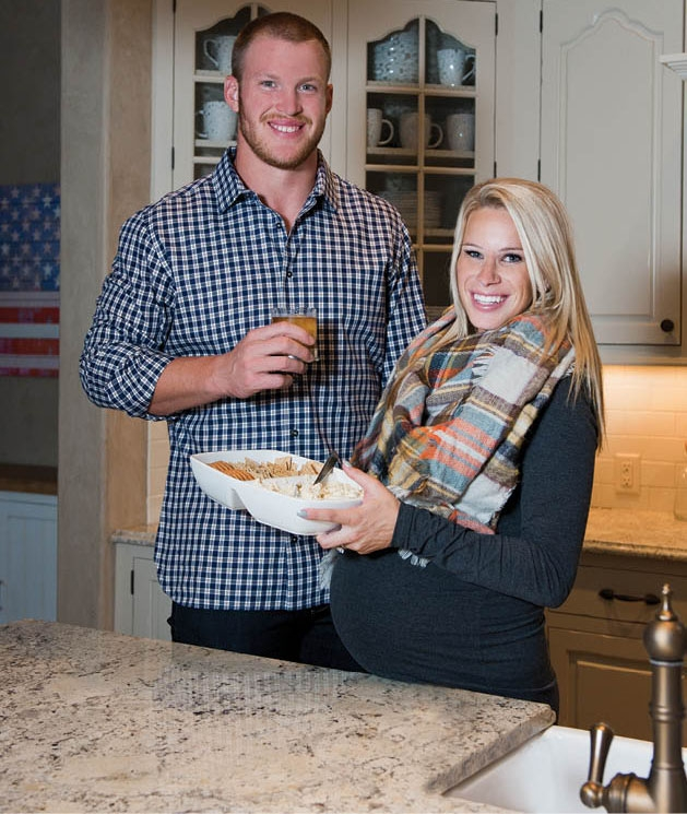 Vikings tight end Kyle Rudolph and his wife, Jordan