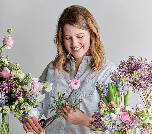 Marie Raley, owner of Laine Moire Floral Design