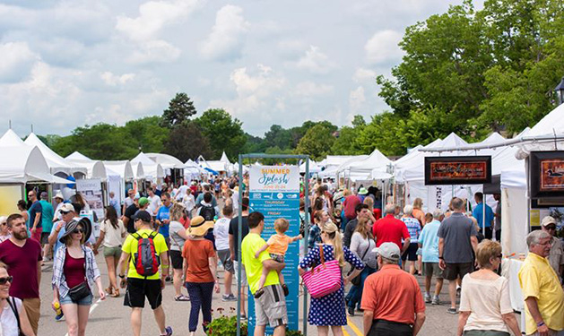 Wayzata residents mill about at Summer Splash, one of Lake Minnetonka's biggest summer events.
