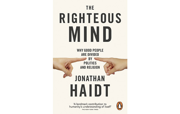 """The Righteous Mind"" by Jonathan Haidt"