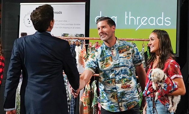 "The owners of Dog Threads on ""Shark Tank"""