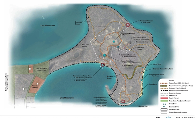 An overview of the plan to renovate and improve Big Island Park.