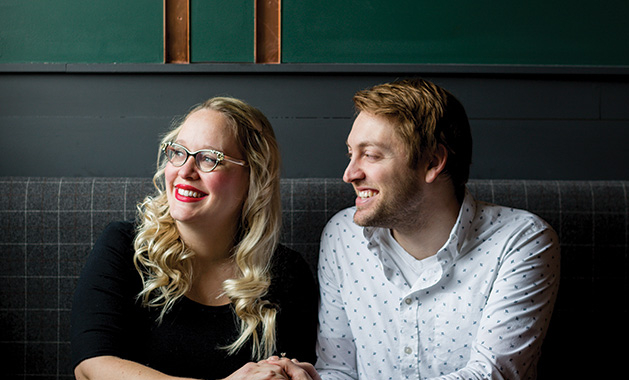 Danielle and Chris Bjorling, owners of Copper Cow, the sister restaurant to Copper Hen on Eat Street.