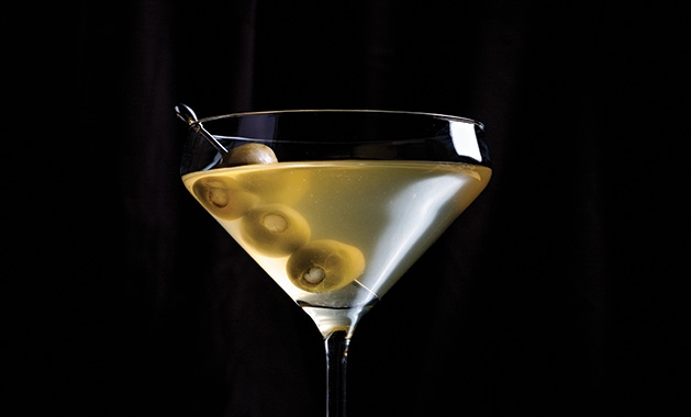 A martini made from Gray Duck Vodka.