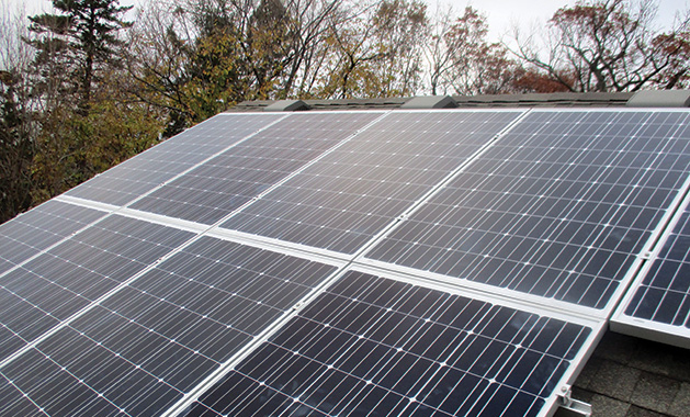 Solar panels on a Lake Minnetonka home made and installed by All Energy Solar.