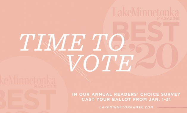 A graphic announcing the 2020 Best of Lake Minnetonka Magazine readers' choice survey