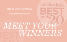A graphic announcing the Lake Minnetonka Magazine Best of Lake Minnetonka 2020
