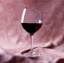 A glass of zinfandel.