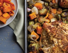 Sheet Pan Maple Mustard Roasted Chicken and Vegetables, a recipe by Fad Free