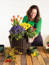 Lynn Messman of Gardens by Lynn Minnetonka decorates a container garden