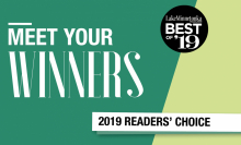 "A graphic that reads ""Meet Your Winners, Lake Minnetonka Magazine Best of '19 Readers' Choice"""