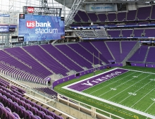 U.S. Bank Stadium, the home stadium of the Minnesota Vikings